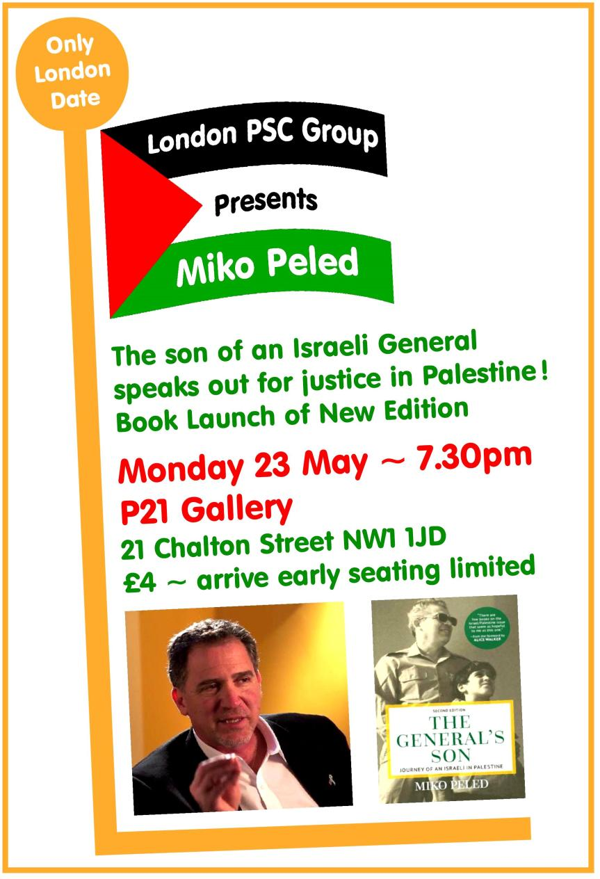 London PSC Presents Miko Peled, P21 Gallery (Draft B).